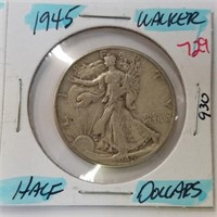 1952-D Frankin & 1945 Walking Liberty Half Dollar