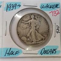 1956 Frankin & 1939-S Walking Liberty Half Dollar