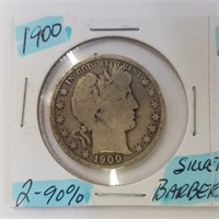 1900 & 1901 Barber Half Dollar