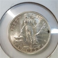 1944 Philippines 50 Centavos 75% Silver
