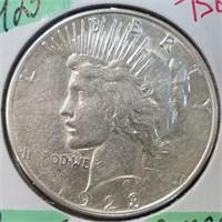 1923-S 90% Silver Peace Dollar