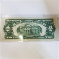 1953-B Red Seal $2 Bill Note
