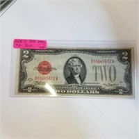 1928-D Red Seal $2 Bill Note