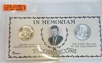 (2) UNC 1964 90% Silver Kennedy Half Dollars