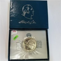 1982-D George Washington Half Dollar & Box