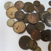 (35) 1800's Foreign Coins