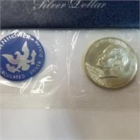 1973 UNC Ike Dollar 40% Silver