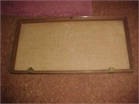 Wood and Plexi-glass Display Case.