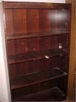 Dark Wooden 4 Shelf Bookcase