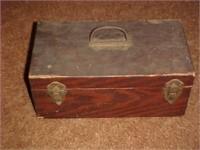 Vintage Wooden Tackle Box