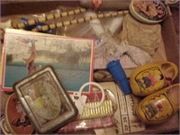 Wooden Shoe and Misc Lot