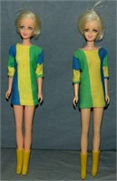 (2) 1967-68 Twiggy TNT Dolls & Exclusive Outfits