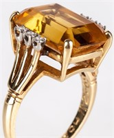 Jewelry 14kt Yellow Gold Citrine Cocktail Ring