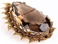 Jewelry 14kt Yellow Gold Smoky Topaz Brooch
