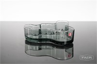 Alvar Aalto Iittala Smoke Glass Dish