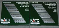 Kato N Gauge Amtrak Superliner Car Sets
