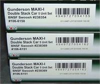 6 Kato N Gauge BNSF Swoosh Double Stack 3-Packs