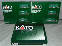 5 Assorted Kato N gauge Double Stack Car 3-Packs