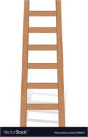WOODEN LADDER 1.5' X 4.5' DISTRESSED WOOD LOOK