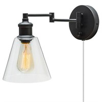 GLOBE LECLAIR PLUG-IN WALL SCONCE