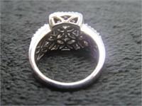 14K White Gold Fashion Diamond Ring w/ Appraisal-