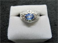 14K Diamond and Sapphire Ring w/ Appraisal-