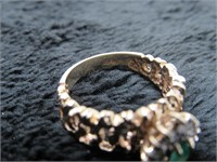 10K Emerald and Diamond Ring w/ Appraisal-