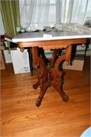 19th Century, Walnut, Eastlake, Center Table