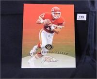 Pat Barnes; Kansas City Chiefs; signed; Leaf 97