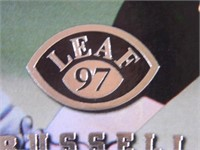 Darrell Russell; Raiders; signed; Leaf 97