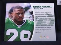 Adrian Murrell; New York Jets; signed; Leaf 97