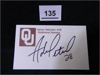 Adrian Peterson; Oklahoma University; #28