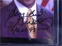 J.C. Watts; signed photograph; 4 x 6