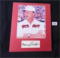 Barry Switzer; Oklahoma University; signed