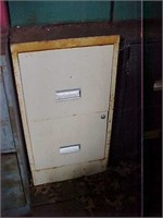 Four Metal Filing Cabinets and Storage Cabinet