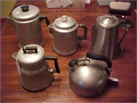 Vintage Aluminum Coffee Pots