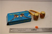 Stag Horn salt and peppers in original box
