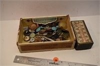 Box of Old Buttons