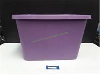 Purple Sterilite 18 Gallon Tote w/ Lid