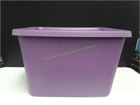 Purple Sterilite 18 Gallon Tote w/ Lid