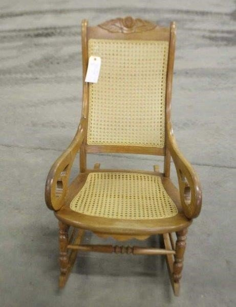 Awe Inspiring Rocking Chair W Wicker Seat Back Smith Sales Llc Machost Co Dining Chair Design Ideas Machostcouk