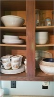 cupboards full of dishes