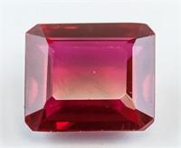 15.15 ct Emerald Cut Red Ruby Gemstone AGSL