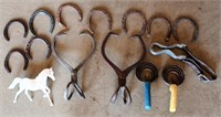 Horse Shoes, Ice Tongs, Comps