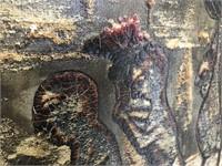 """Antique Oil On Canvas """"San Lorenzo De El Escorial"""""""