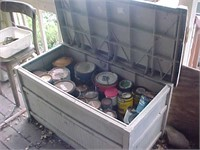 Plastic Storage Container and Paint