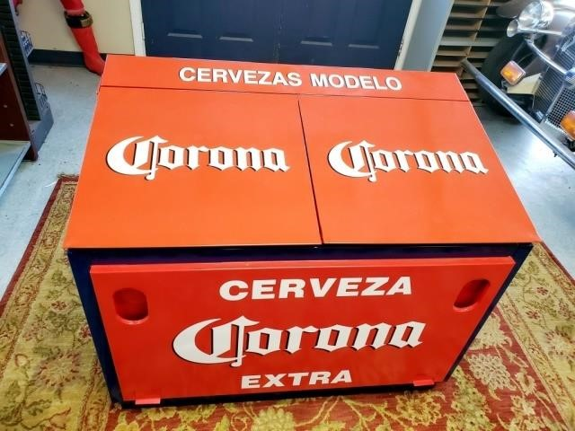 Nice Xl Corona Extra Tavern Beer Ice Chest Antique 2 Modern Auction House