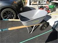 Dual Wheel Steel Wheelbarrow Like New