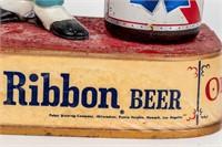 Vintage Pabst Blue Ribbon Table Display