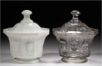 Extrmemly rare Ihmsen covered sugar bowls in near proof condition - Teague collection